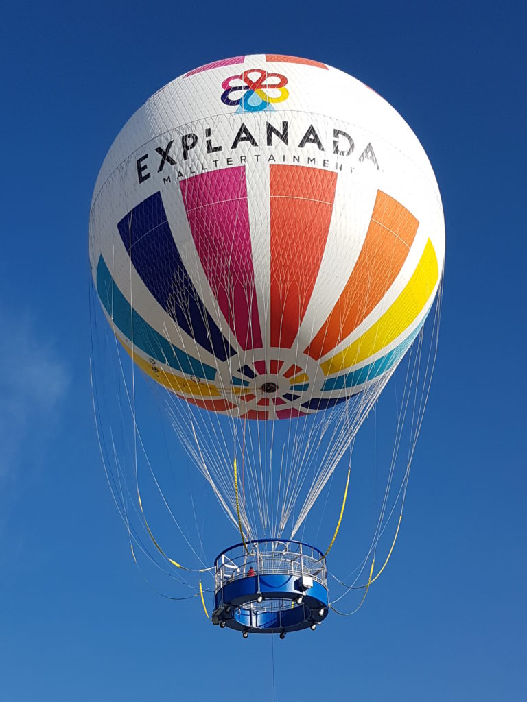 Attraction familiale Ballon Captif Aerophile GICSA à Puebla au Mexique
